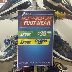 Men's sneakers, $39.99