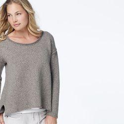 """<a href=""""http://jamesperse.com"""">Heather grey shirt</a>, $95"""