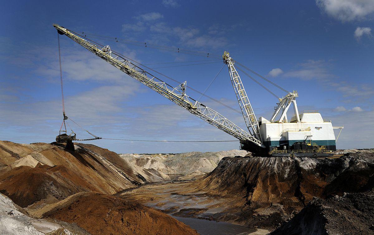 Inside Mosaic Phosphate Mining Facilities