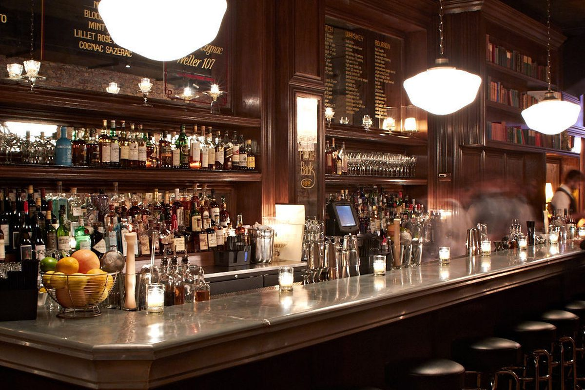 Get a craft cocktail at the gorgeous wood bar