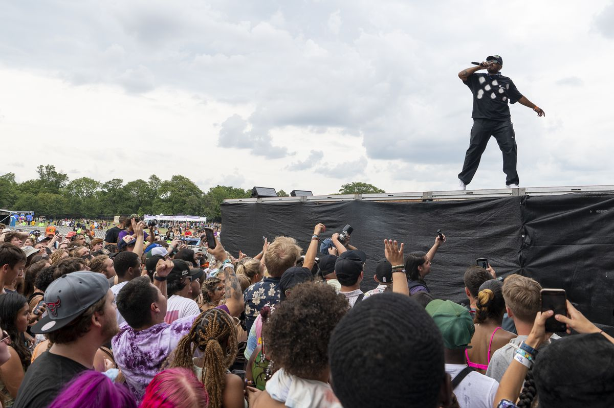 Joey Purp performs Saturday on day two of the Summer Smash Festival in Douglass Park.