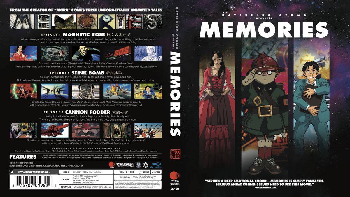 Three characters look forward on the front of this wraparound box art