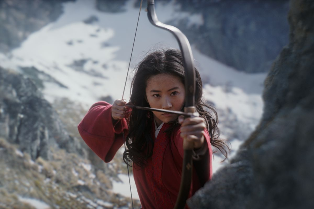 mulan with a bow and arrow