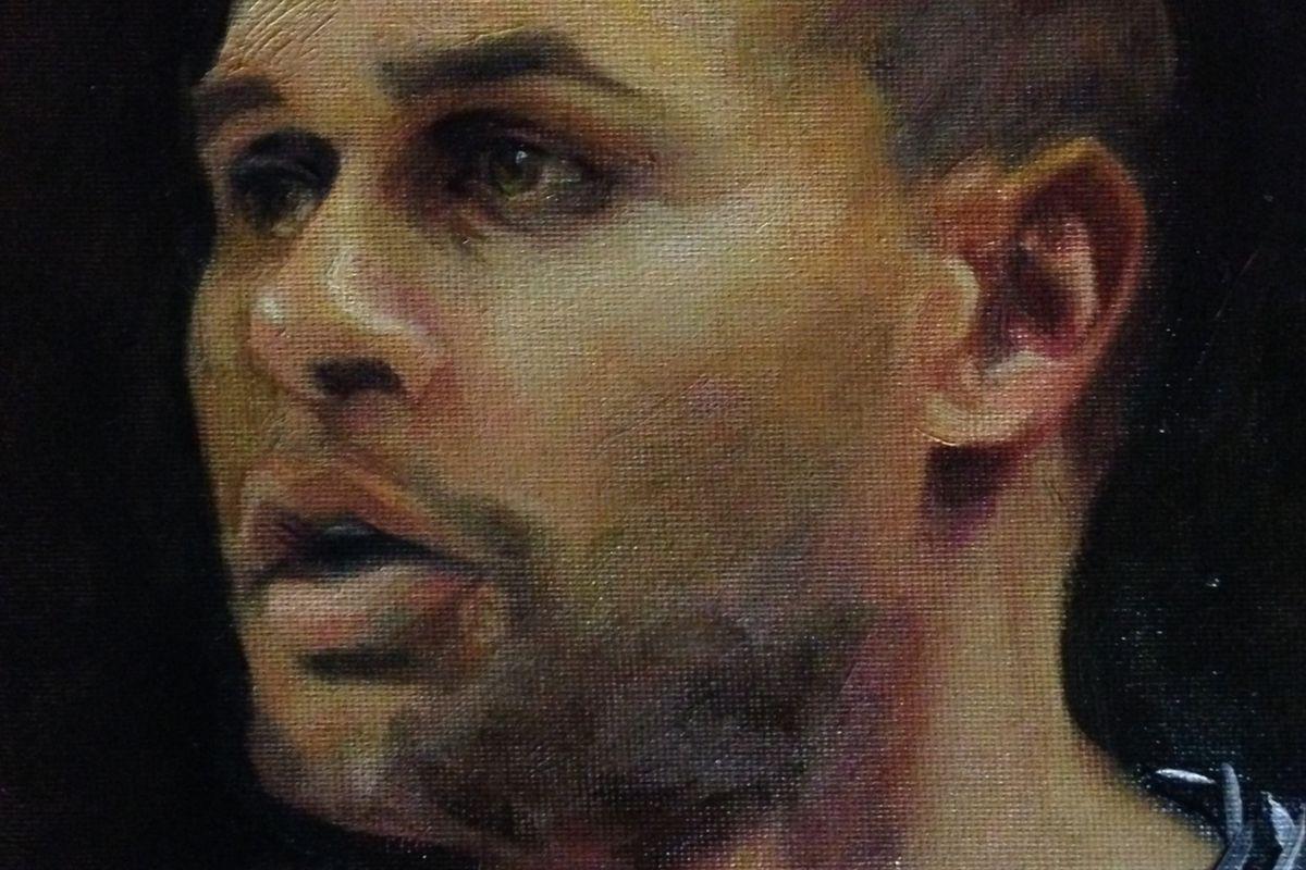 Patty Mills - oil on canvas