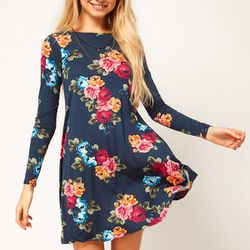 """<b>ASOS</b> Swing Dress in floral print, <a href=""""http://www.asos.com/ASOS/ASOS-Swing-Dress-In-Floral-Print/Prod/pgeproduct.aspx?iid=2574235&SearchQuery=floral&sh=0&pge=0&pgesize=200&sort=-1&clr=Print"""">$49.25</a>"""