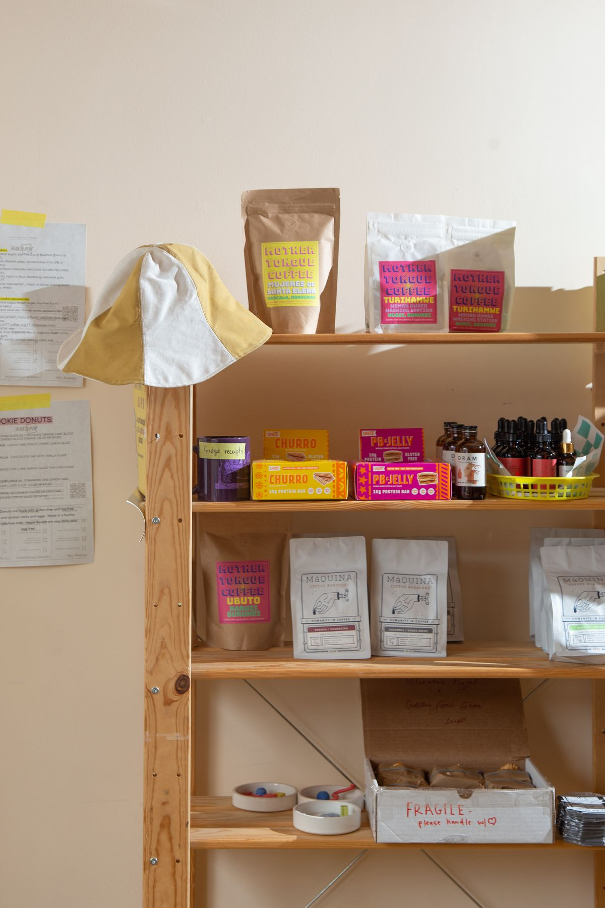 Some of the offerings Mina's World sells in its online store, from bags of coffee beans to tinctures and face oils