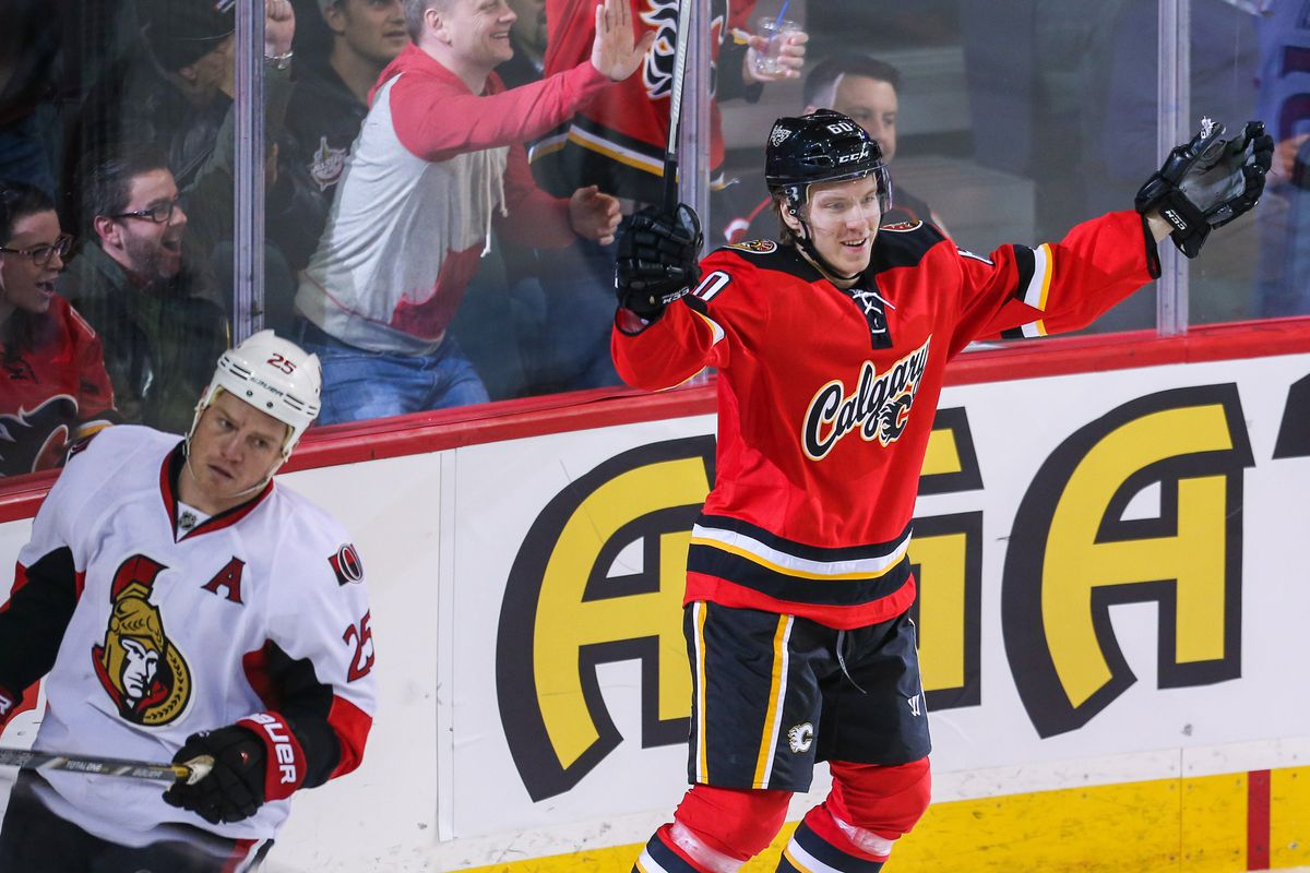 Markus Granlund, already with some NHL experience, will be one of the Flames' headliners throughout prospects camp.