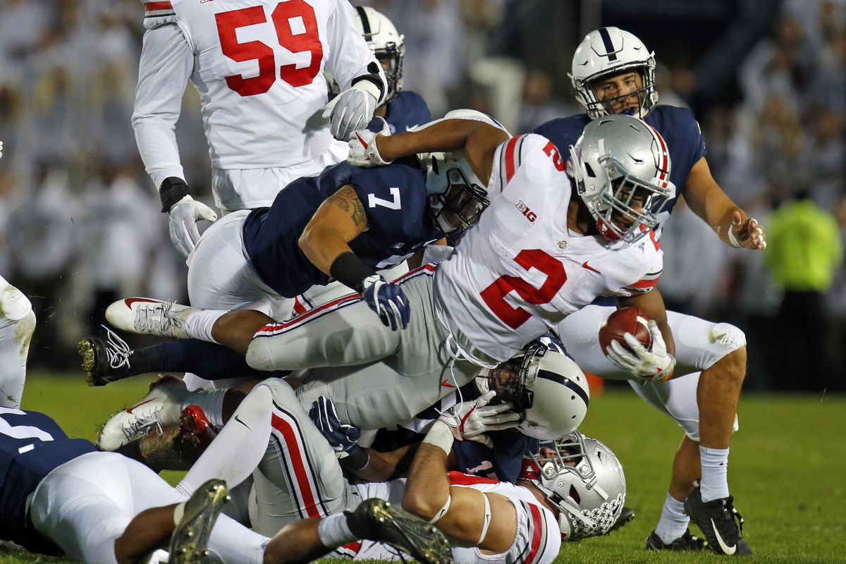 It's been a whole lot of tough sledding for J.K. Dobbins and the Buckeyes against Penn State.