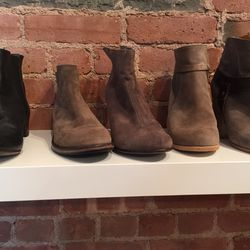 A selection of booties, $140—$200