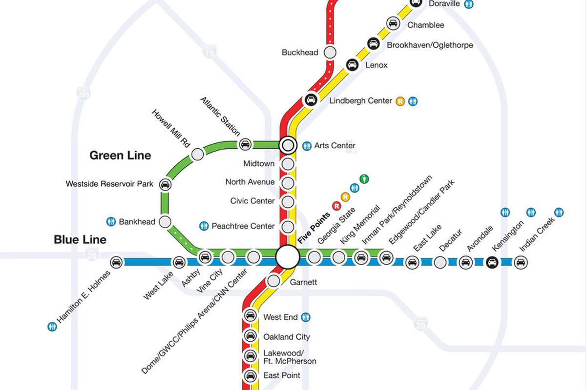 The nonexistent—but totally sensible—MARTA Greenline Loop, as concocted by a reader in 2014.