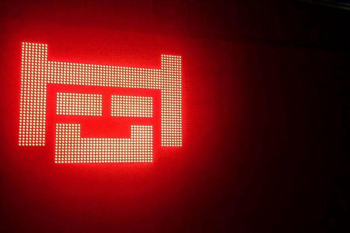 Neon signage at Nexto