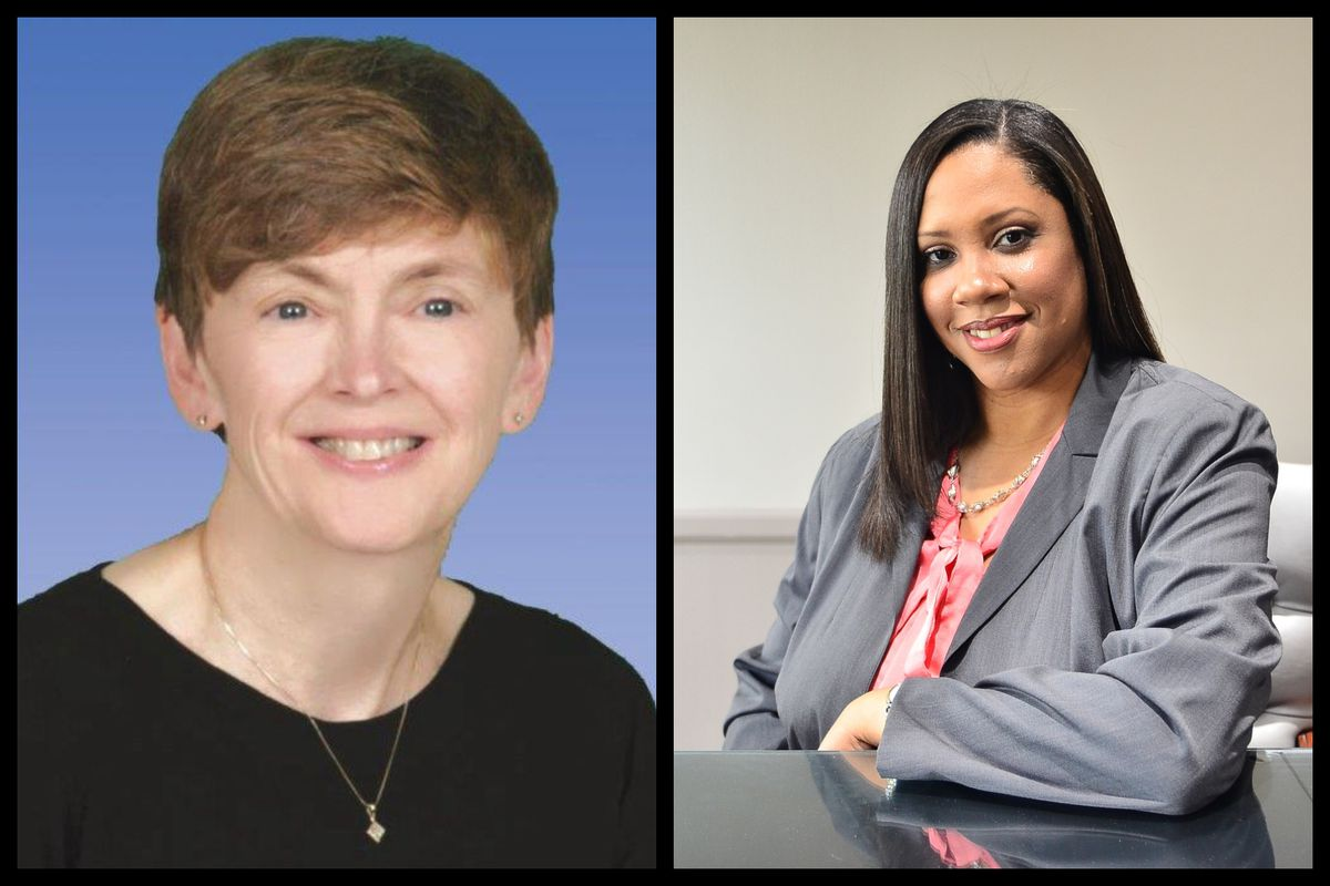 Judy Pritchett (left) and Tiffany Tilley, both Democrats, tipped the Michigan school board in favor of their party.