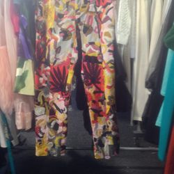 Patchwork cropped pants, $290