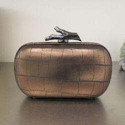 Diane von Furstenberg croc clutch, $109.50