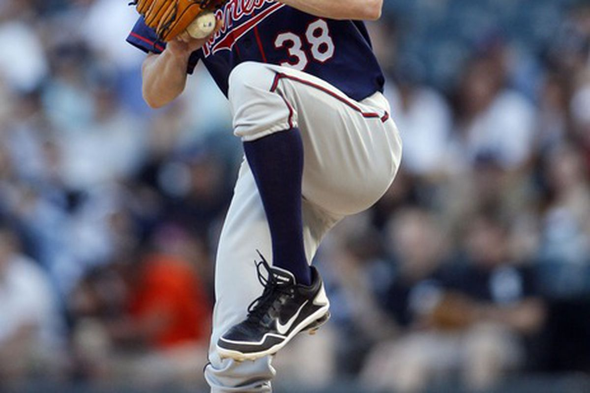May 24, 2012; Chicago, IL, USA; Minnesota Twins starting pitcher Cole De Vries (38) throws a pitch during the first inning against the Chicago White Sox at US Cellular Field.  Mandatory Credit: Jerry Lai-US PRESSWIRE