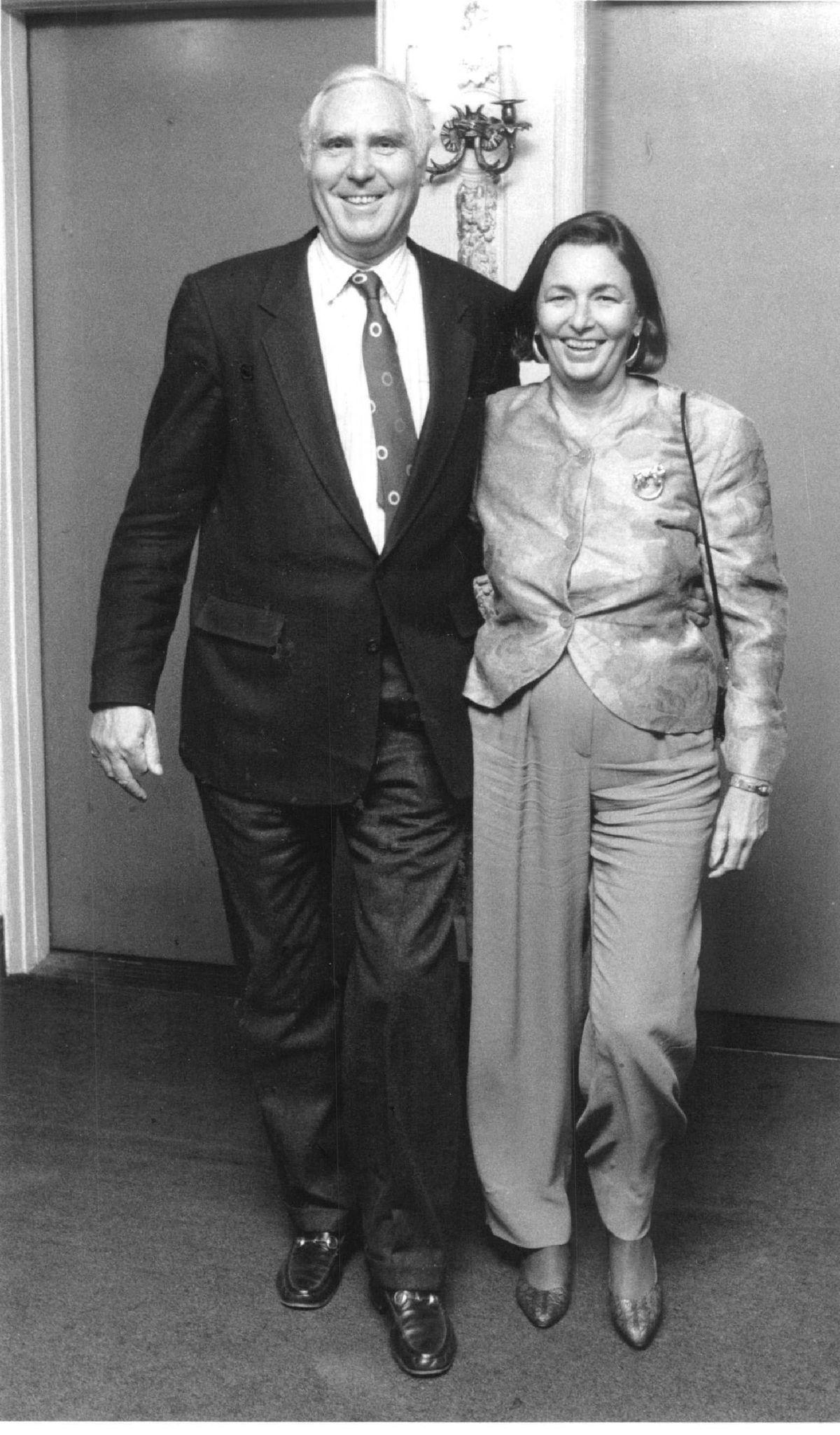 Baron Henry von Ferstel and Marilou Hedlund, shown in 1990.| Sun-Times files