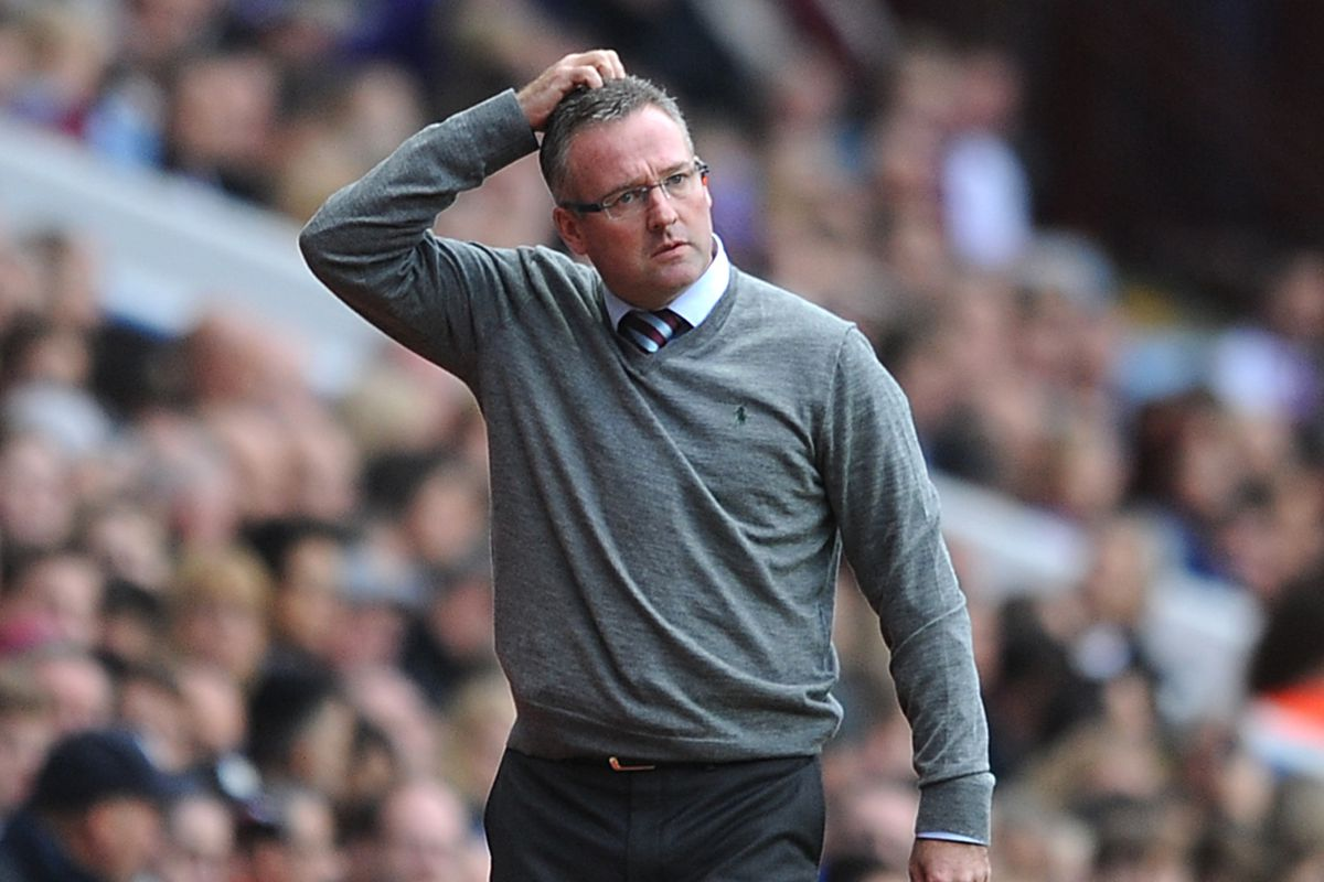 Paul Lambert may or may not be scratching his head figuring out what to do.