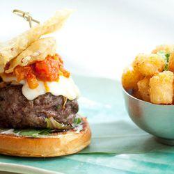 "The Kobe burger at <a href=""http://f.curbed.cc/f/CityEats_EDC_SP_062812_SEI""><b>Sei</b></a> with sautéed shitake, tempura bacon, muenster cheese, and wasabi horseradish."
