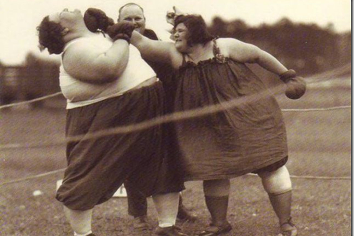 You haven't seen fat women boxing yet today right? You're welcome.