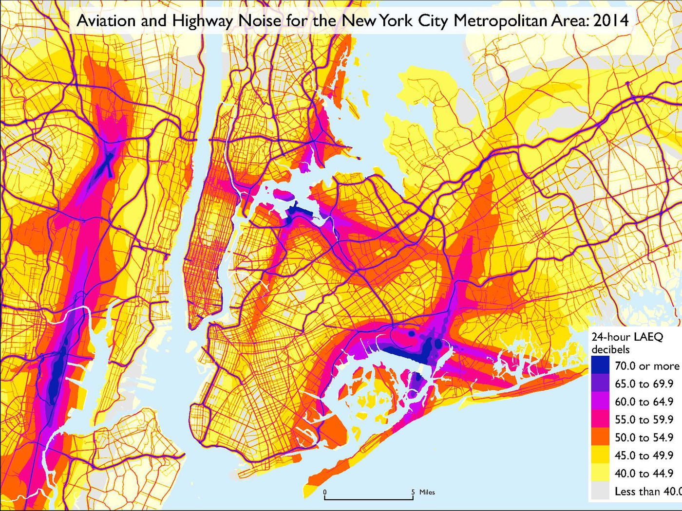 Department Of Transportation Releases First Ever National Noise Map Curbed