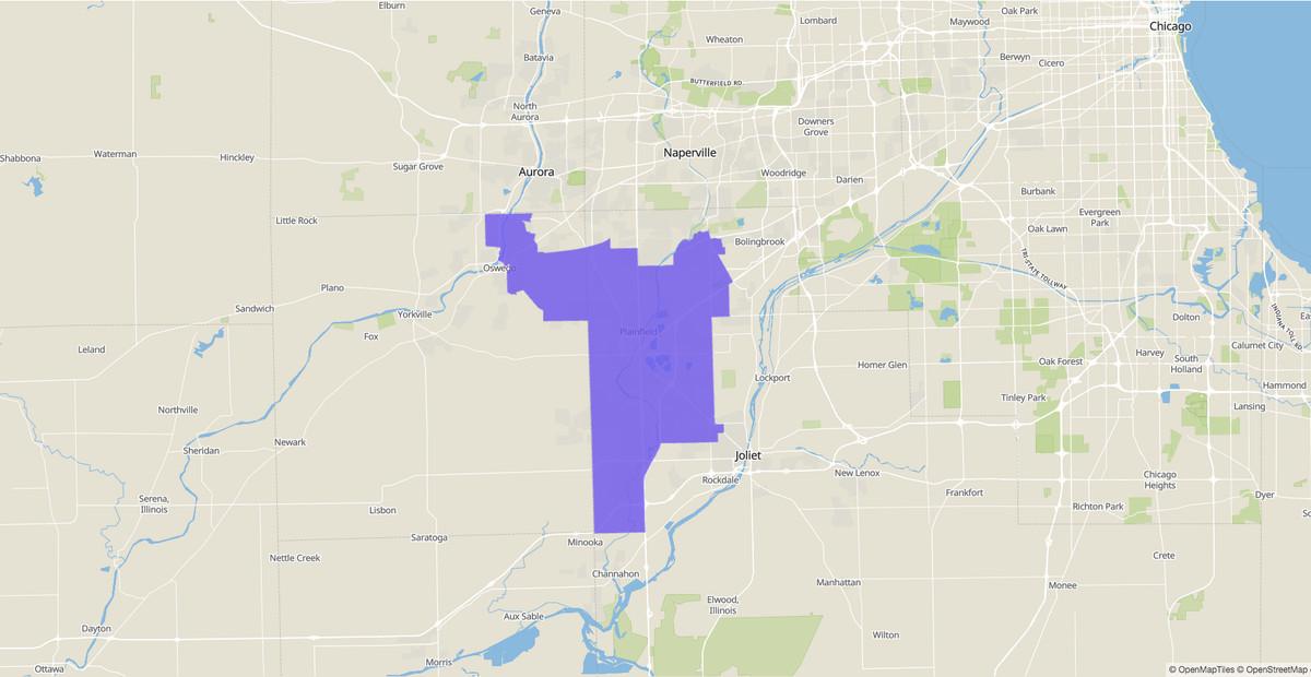 Illinois Senate 49th District map.