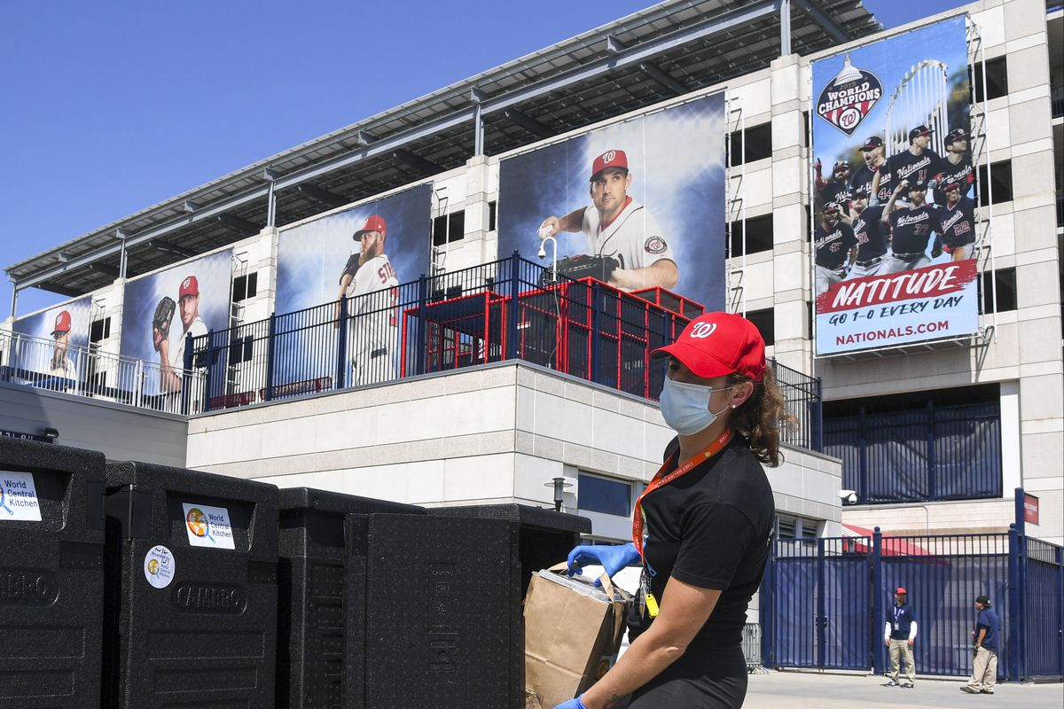 The Washington Nationals are in partnership with Chef José Andrés World Central Kitchen to utilize Nationals Park as a cooking/distribution site for thousands of free meals. The free meals will be distributed using World Central Kitchen and Nationals Phi