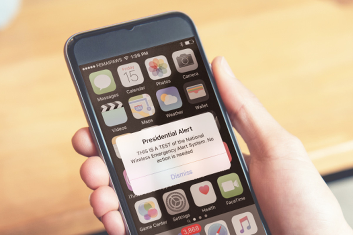 FEMA will test a 'Presidential Alert' text message in October that