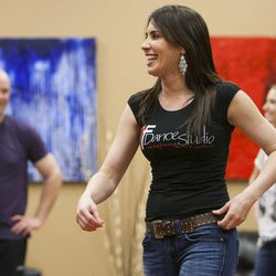 South Salt Lake Businesswoman of the Year Maria Ivanova Tuesday, March 12, 2013, working with her students at her dance studio, DF Dance.
