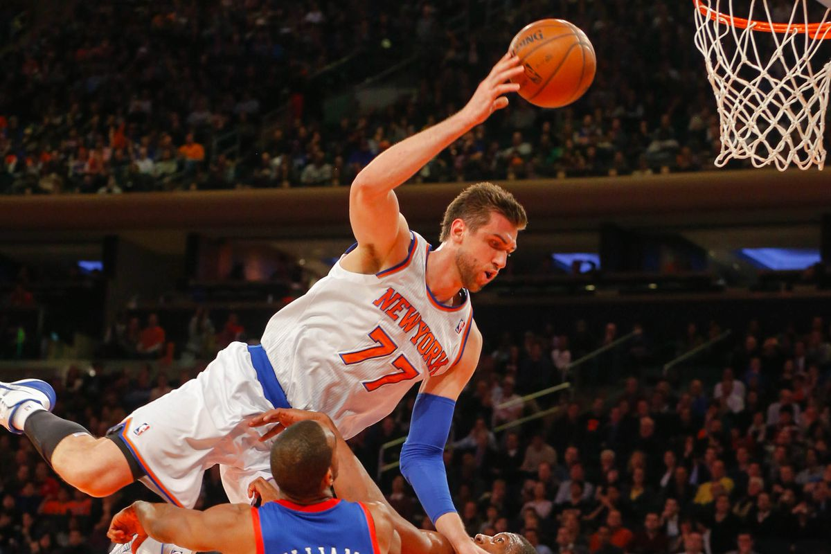 Will Andrea Bargnani (top) come crashing back down to earth?