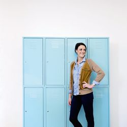 <b>Megan Gerber</b>, Senior Director, Global Sourcing and Production, wearing a J Crew denim shirt, Ralph Lauren suede sweater, J Crew jeggings, and DV boots.<br><br> <b>What's one item that you passed on that you wish you could go back and buy?</b><br>A