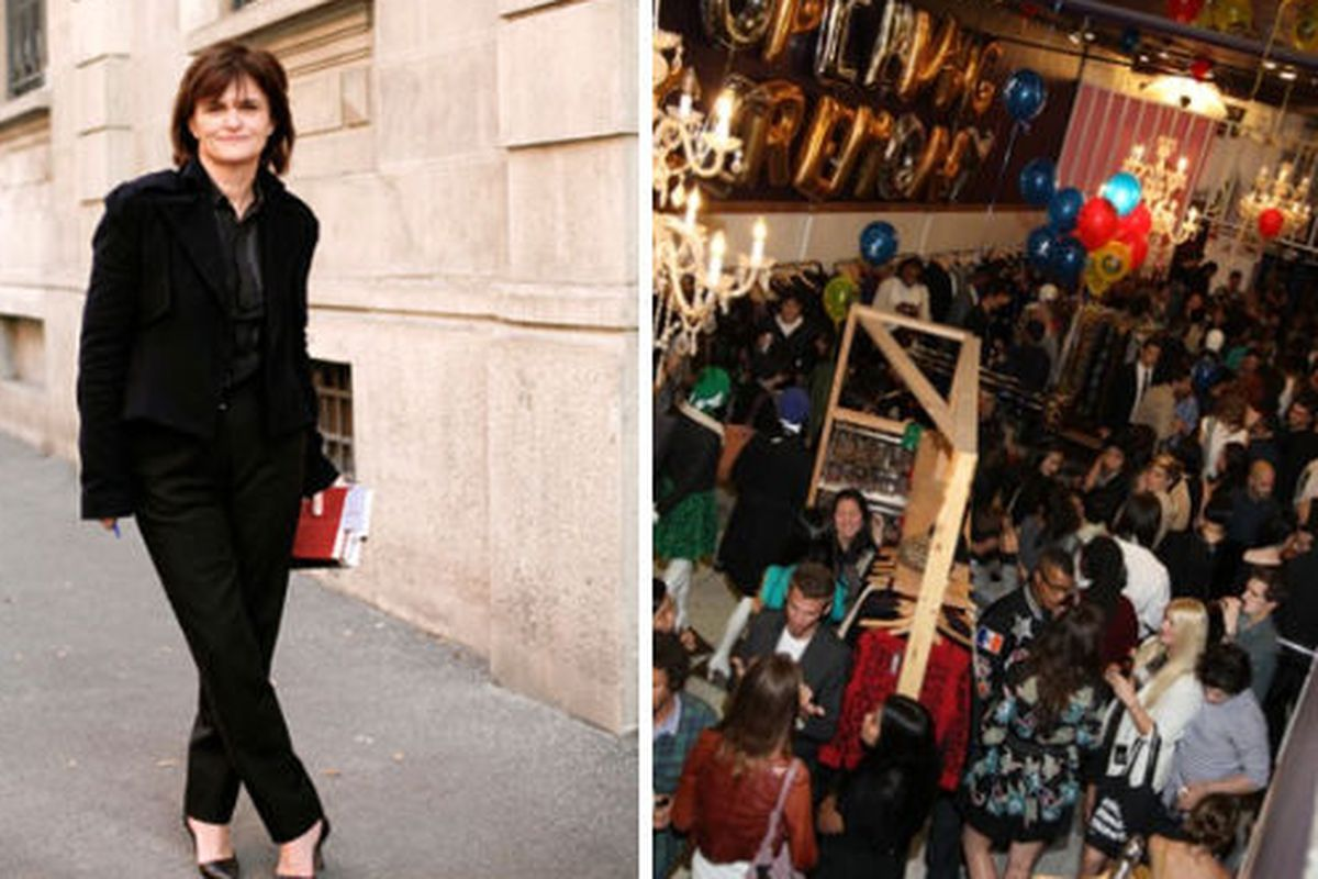 """Cathy Horyn Image via <a href=""""http://www.kenwerks.com/2010_10_01_archive.html"""">Kenworks</a>, FNO crowd at Opening Ceremony image via <a href=""""http://www.wwd.com/fashion-news/fashion-features/fashions-night-out-to-be-repeated-in-2010-2355670"""">WWD</a"""