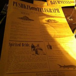 """The menus.  The insides, oddly, didn't match up.  One menu listed the """"house specialties,"""" the other did not."""