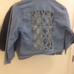 Lattice-back jacket, $45