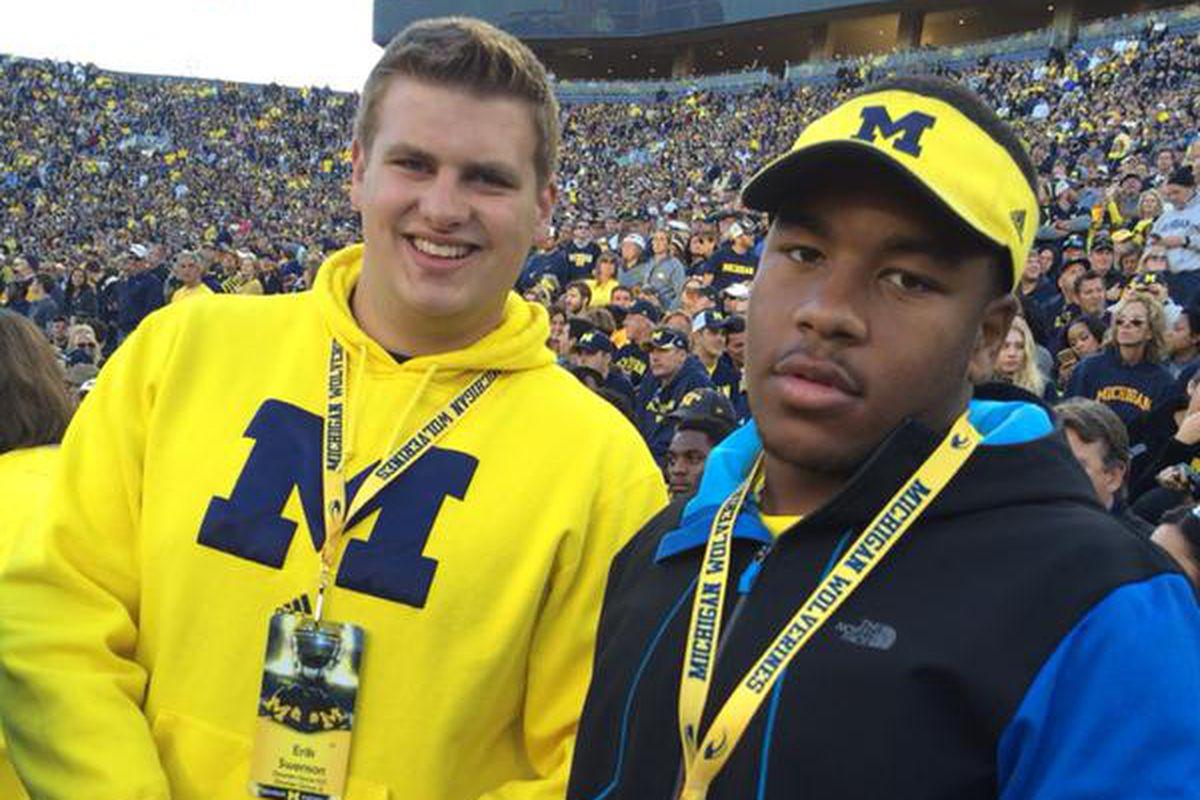 David Reese (right) at a Michigan game