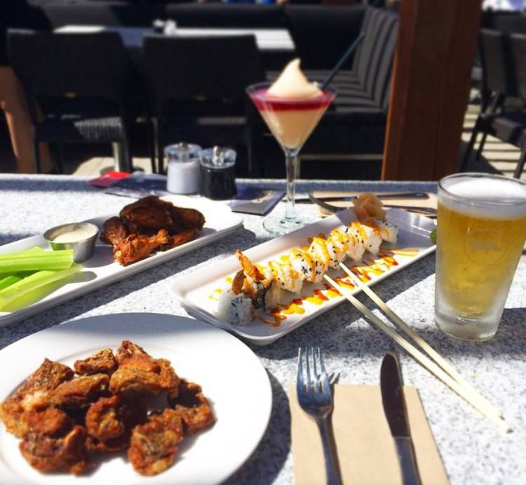 Part of the happy hour selection at Earls Kitchen + Bar