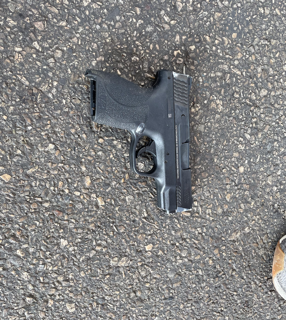 A photo of gun allegedly used by a person who was shot at, but not hit, by police March 11 in the 6300 block of South King Drive.