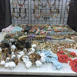 Embellished necklaces, $60