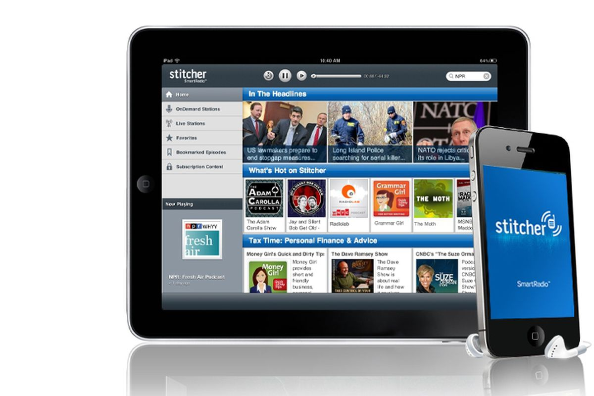 We're on there with all your favourites, so get downloading the great FREE Stitcher App.