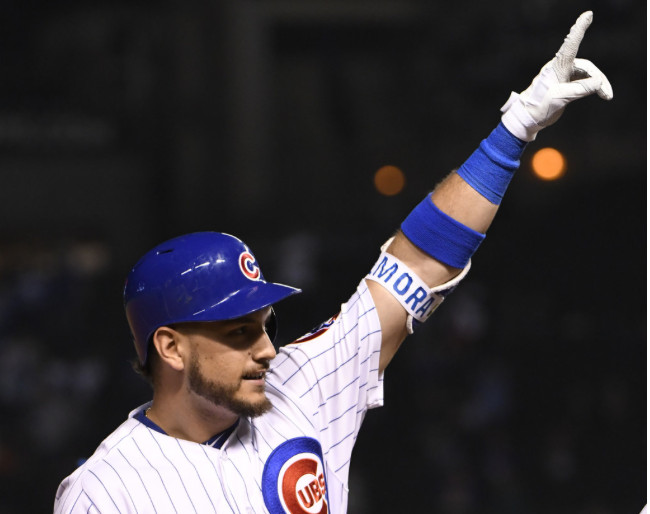 <em>Albert Almora Jr. came off the bench to hit a three-run homer in the seventh and three-run triple in the eighth.</em>