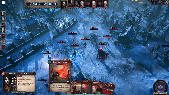 A gameplay view of <em>Immortal Realms: Vampire Wars</em>, coming later this fall to PC