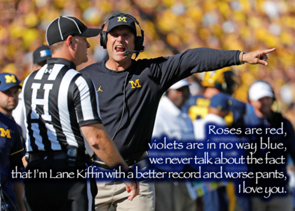 """""""Jim Harbaugh got that ass on his back, like Phil Jackson, you don't see that on white men very often"""""""