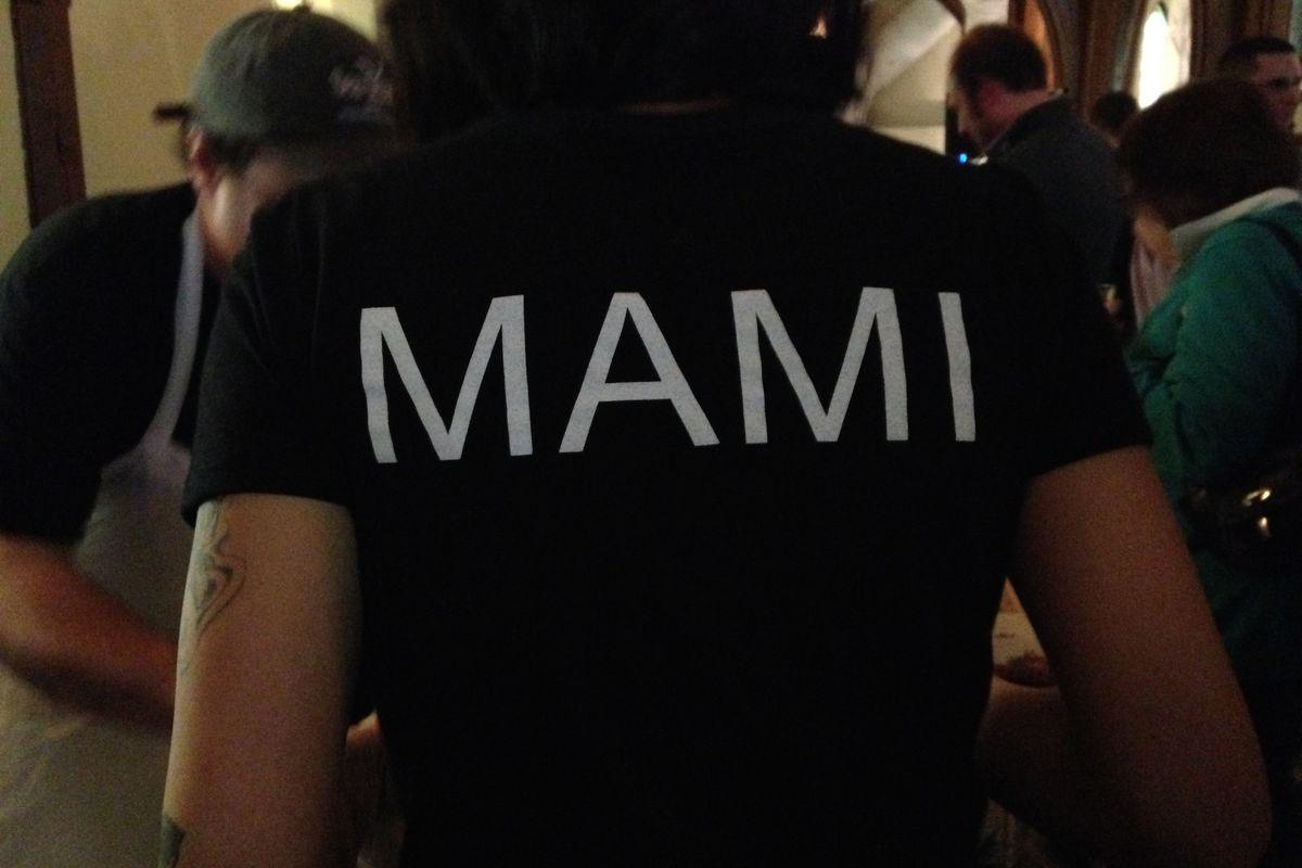Co-owner Hana Tamaki sports a Mami t-shirt at Chopped Challenge 2015.