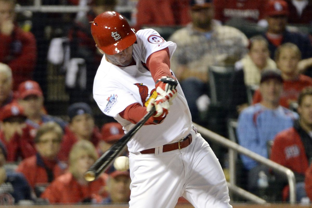 This is David Freese hitting in the World Series. That's exciting.