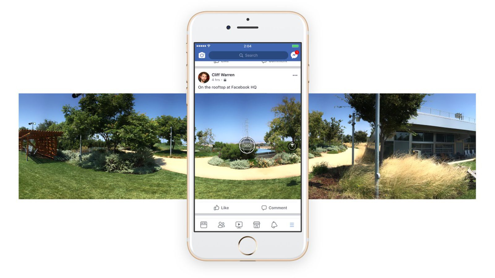 Facebook now lets you shoot 360-degree photos inside its ...