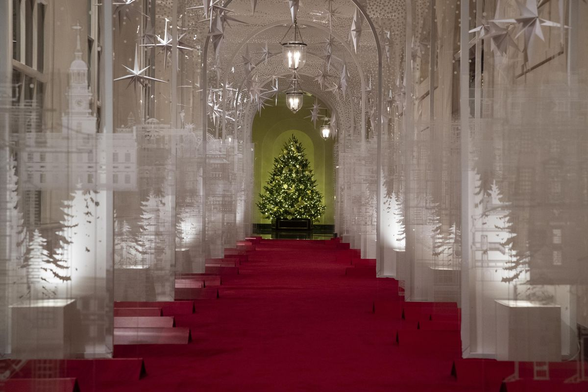 First Lady Melania Trump Unveils White House Christmas Decorations Deseret News