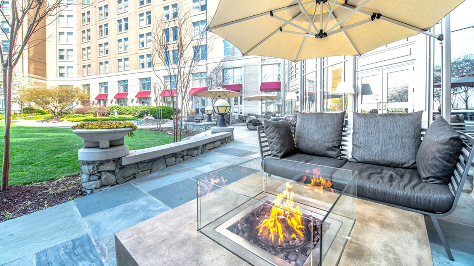 The empress lounge has a new terrace with firepits for The terrace lounge menu