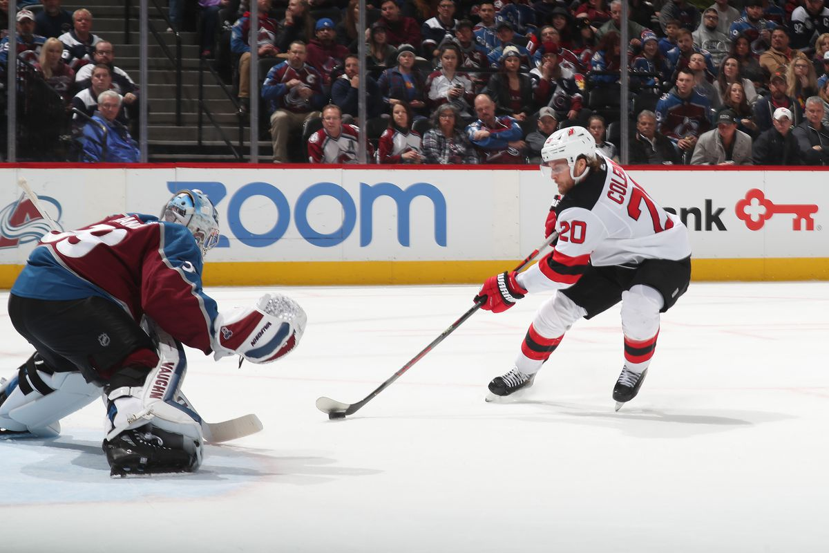 New Jersey Devils Without Taylor Hall & Luck Against Pavel Francouz in Loss to Colorado Avalanche