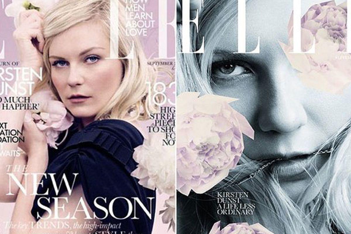 """The return of Kirsten Dunst at Elle UK, via <a href=""""http://revistaquem.globo.com/Revista/Quem/0,,EMI254629-8197,00.html"""">Quem</a>"""