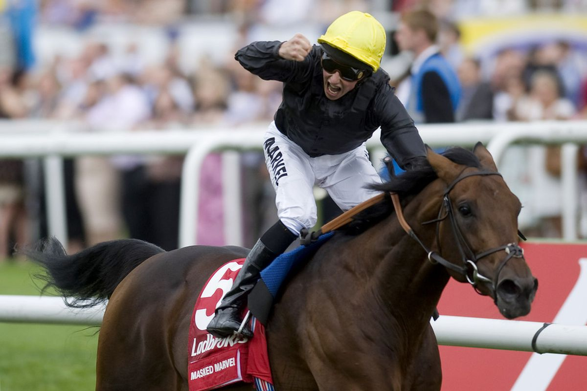Masked Marvel won the English St. Leger at Doncaster last fall. Arlington Park is bringing an American version of this race to the 2012 International Festival of Racing.