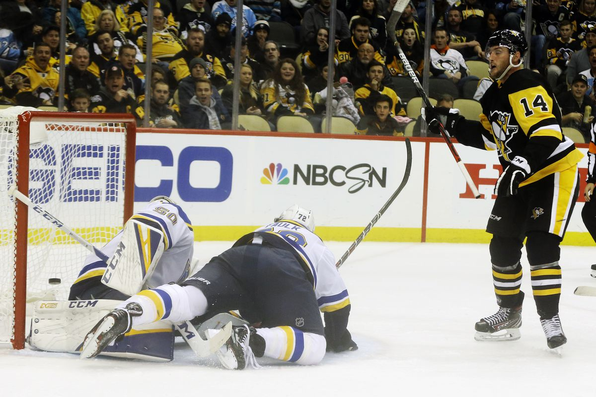 NHL: St. Louis Blues at Pittsburgh Penguins